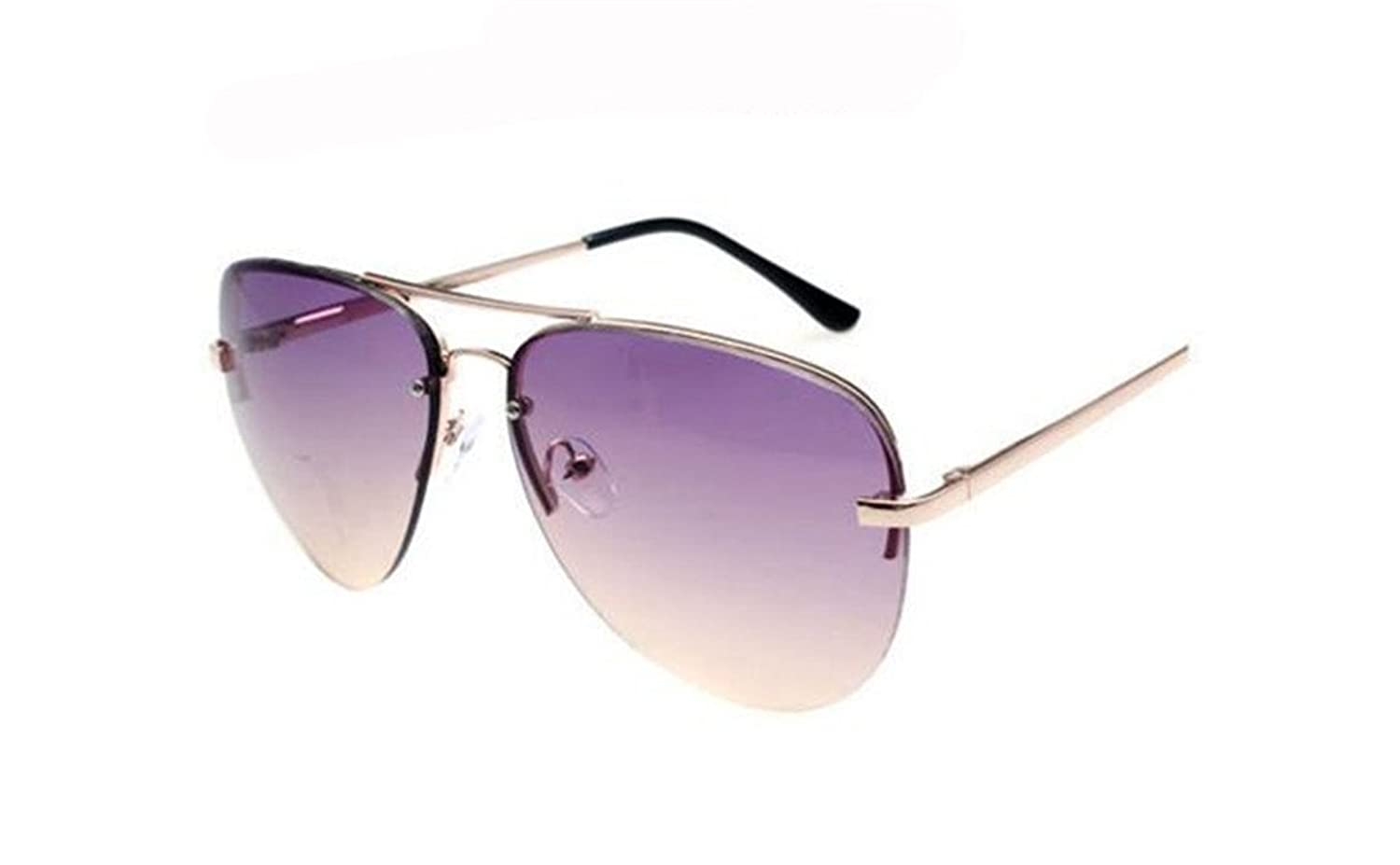 GAMT Summer Beach Sunglasses Aviator Two-Color Gradient Rimless Gold Frame Sun Glasses Anti-UV
