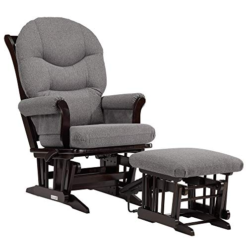 (Dutailier Sleigh 0400 Glider Multiposition-Lock Recline with Nursing Ottoman Included )