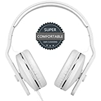 On Ear Headphones with Microphone - seenda Lightweight & Foldable Wired Headphones with Volume Control for iPhone Samsung Smartphones, Tablets, Laptops, PC and More