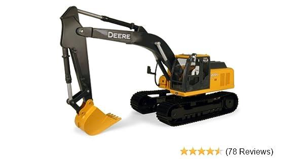 Amazon Com Tomy John Deere Big Farm 200lc Excavator 1 16 Scale Toys Games