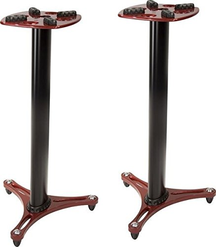 Ultimate Support MS-90/36R MS Series Professional Column Studio Monitor Stand with Non-marring Decoupling Pads - 36''/Red by Ultimate Support