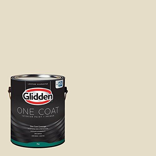 Glidden Interior Paint + Primer: White/Navajo White, One Coat, Flat, 1 - Finish Navajo White
