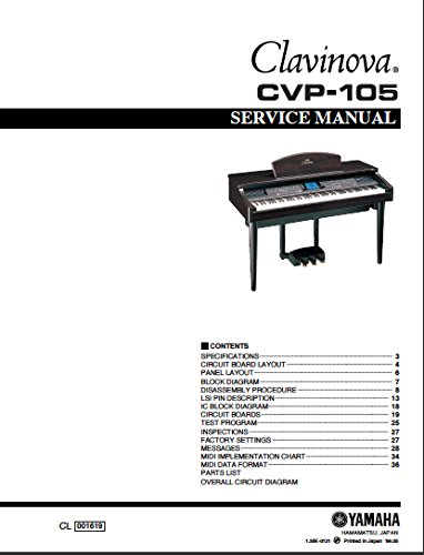 YAMAHA CVP105 CVP-105 SERVICE MANUAL for sale  Delivered anywhere in USA