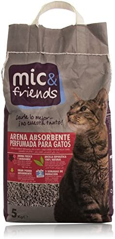 Mic & Friends Arena Absorbente Perfumada para Gatos - 5000 g ...