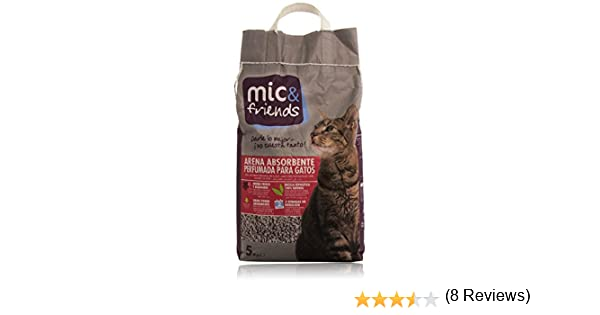 Mic & Friends Arena Absorbente Perfumada para Gatos - 5000 g: Amazon.es: Amazon Pantry