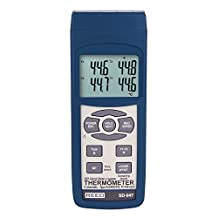 Reed SD-947 4-Channel Thermocouple Thermometer and Data Logger, -327.0 to 999.9 Degrees F, Plus /-0.4-Percent Accuracy