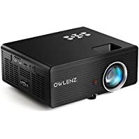 Owlenz 2300 Lumens LCD Mini Projector, Multimedia Home Theater Video Projector Support 1080P HDMI USB SD Card VGA AV Home Cinema TV Laptop Game iPhone Android Smartphone with HDMI Cable, Upgraded
