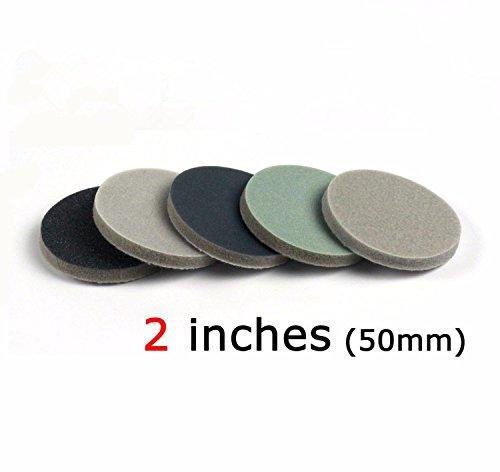 Single Grit Set for Choose 5pcs Grit 400 150mm 6 Back Velvet Flocking Sponge Disc Sandpaper Brushed Dry//Water Sanding Paper Sponge Polishing Grinding Tool