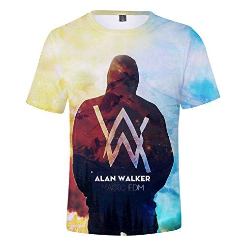 Alan4 neck 3d Alan Uomo Zigjoy Donna Shirt Sbiadito Per Fashion Walker O Olav Top Music Tees E qzttwS4a