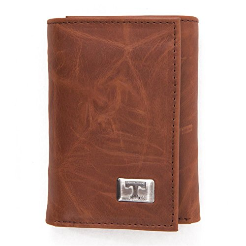 Eagles Wings NCAA Tennessee Volunteers Men's Tri Fold Wallet, One Size, Brown