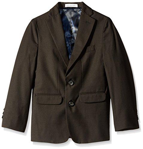 (IZOD Big Boys' Solid Fine Line Jacket, Black,)