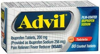 Advil Ibuprofen Film-Coated Tablets - 80 Tablets, Pack of 5 by Advil