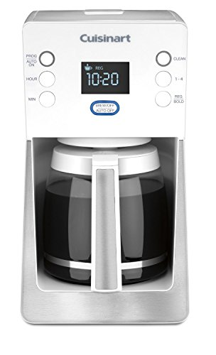 Cuisinart DCC-2800WFR 14 Cup Perfec Temp Programmable Coffeemaker (Renewed), White
