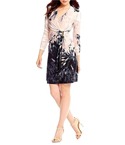 Delle Dress Multi Donne Faux Calvin Wrap Klein Stampato Blush waqtvU5