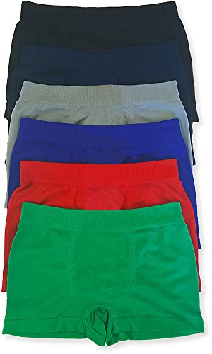 ToBeInStyle-Boys-Pack-of-6-Seamless-Solid-Boxer-Briefs
