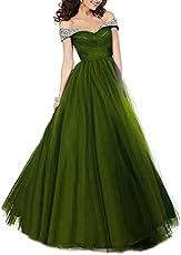 c06f672f4f4 DarlingU Women s Mermaid Off-The-Shoulder Prom Evening Party Dresses ...