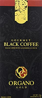 Gourmet Black Coffee With 100% Organic Ganoderma Lucidum (1 Box of 30 Sachets)