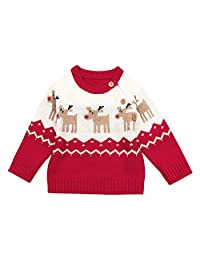 BAOBAOLAI Baby Christmas Jumpers Girls Boys Long Sleeved Deer Knitted Sweater
