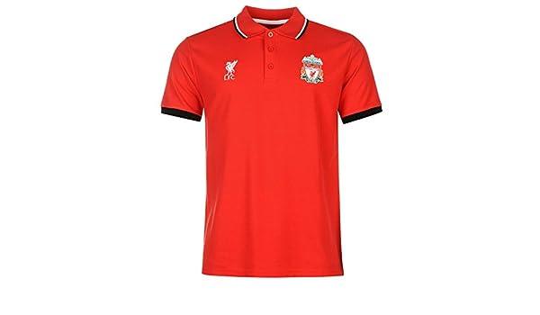 Liverpool FC Polo para hombre fuente Lab para hombre rojo fútbol fútbol Top camiseta, rojo: Amazon.es: Deportes y aire libre