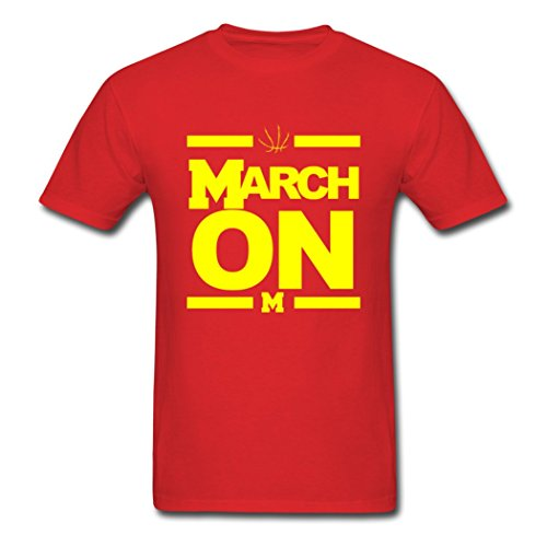 CHILL Designed Men's March On Michigan Basketball T-Shirts - Shops Ave Michigan On