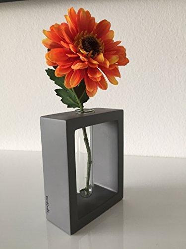 FLOWER VASE - SQUARED CONCRETE FLOWER VASE - ONE FLOWER VASE