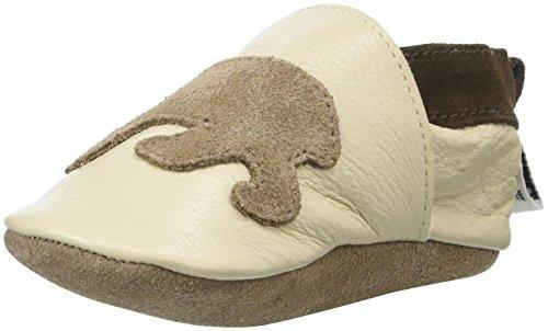 ShooShoos - Zapatitos de piel suela blanda, osos crema, talla xl (18 a 24 meses)