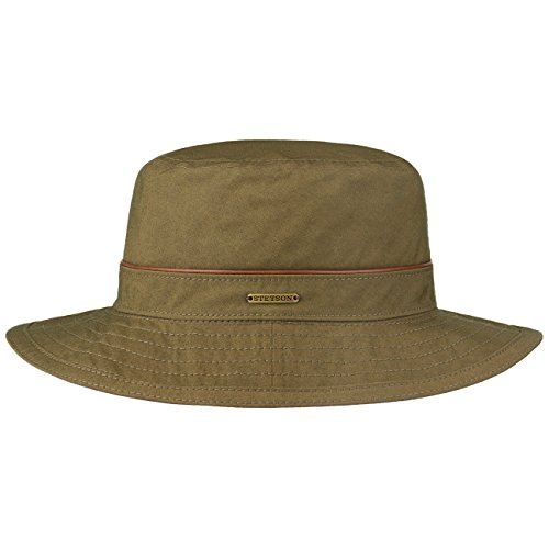 Lluvia Hombre In Verano Algodón Con invierno Outdoor Waxed Cotton Tela Verde Stetson Germany Forro Sombrero De Oliva Made Y7PIqWvS6w