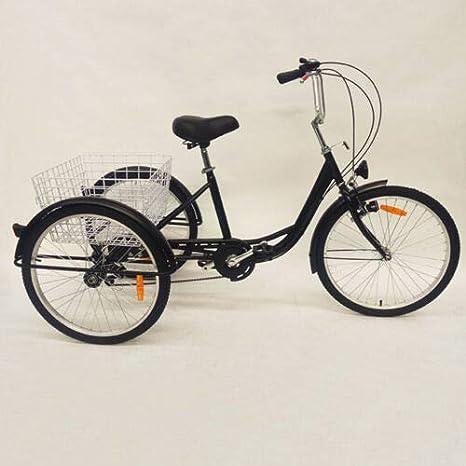 """light 24/"""" 3-Wheel 6-Speed Tricycle Trike Bicycle Bike Cruise+Basket lamp EU"""