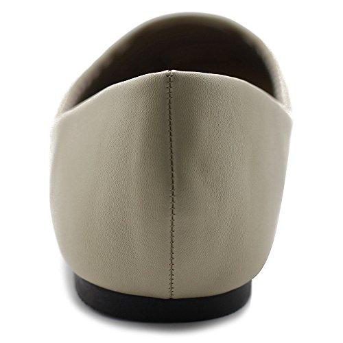Beige Flat Round Toe Shoe Ballet Light Basic Ollio Womens Comfort zZTBv