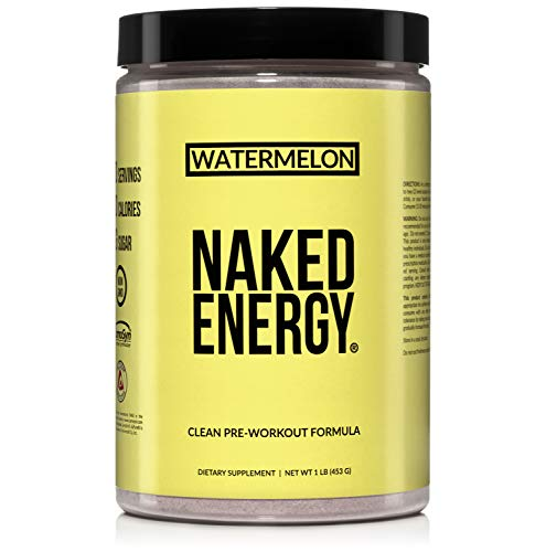 Watermelon Naked Energy - All Natural Watermelon Pre Workout Supplement for Men and Women, Vegan Friendly, No Added Sweeteners, Colors or Flavors - 30 Servings (Best All Natural Energy Supplement)