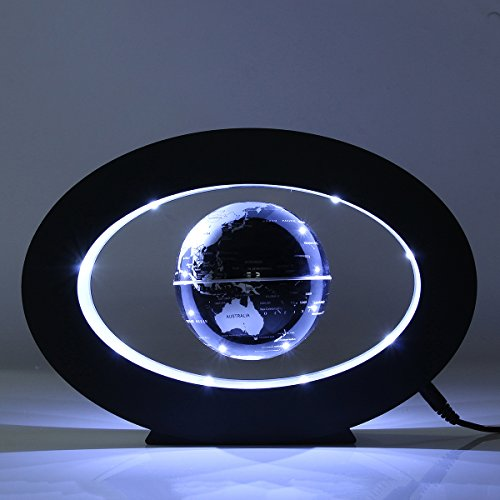 Caveen 3.5 Magnetic Rotating Globe Anti-Gravity Floating Levitating Earth LED Display 360 Degree Rotating for Desktop Office Home Decor Kids Educational Home Decor