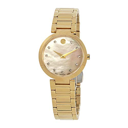 Movado Modern Classic Mother of Pearl Diamond Dial Ladies Watch 0607105 ()