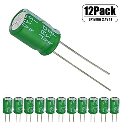 12 Pcs 1 Farad Capacitor 2.7v Super Capacitor Green by HOWRIN: Home Audio & Theater