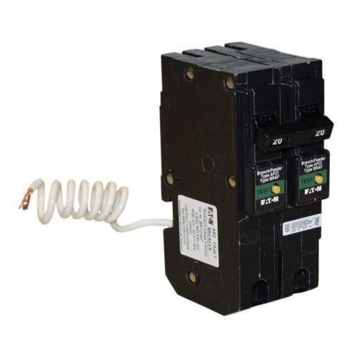 Eaton BRL220CAF Plug-In Mount Type BR Combination Arc Fault Circuit Breaker 2-Pole 20 Amp 120/240 Volt AC Fire-Guard