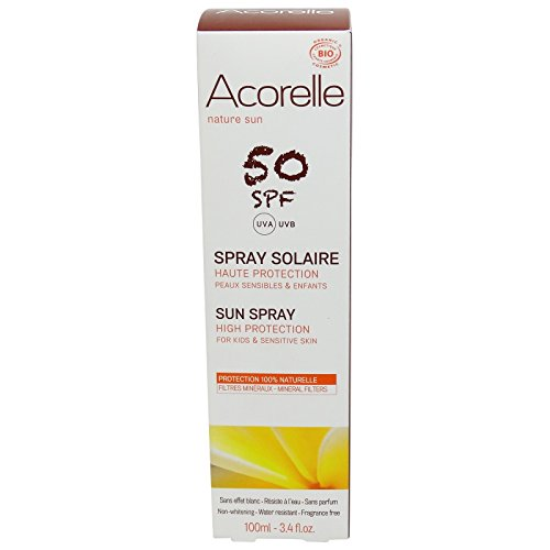 ACORELLE - Sunscreen Spray SPF 50 for Face and Body - Waterproof - Without chemical filters & zinc - Without nanoparticles ()