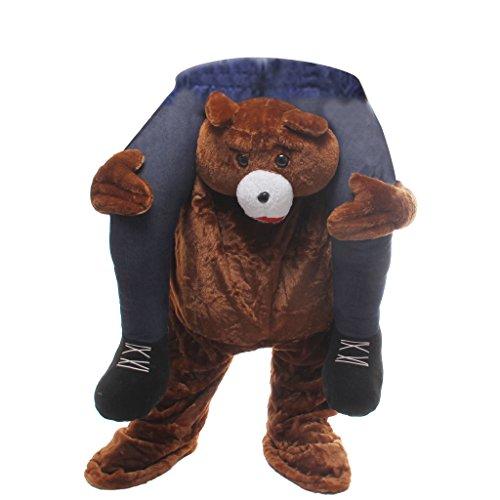 Novel (Man Riding Teddy Bear Costume)
