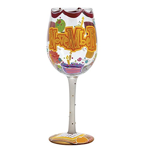 Lolita Birthday Month Wine Glass with Westwood Gourmet Bottle Opener (Happy November)