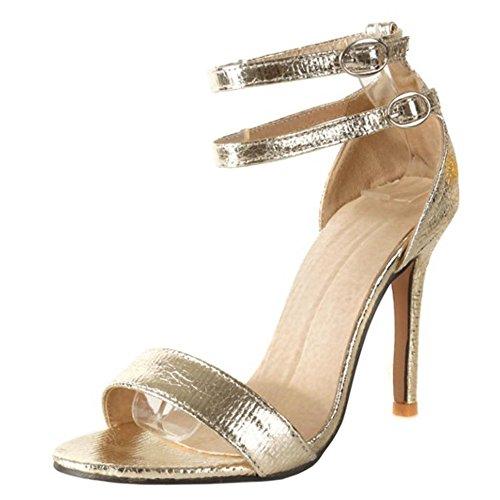 Sandales Gold Femmes Bride Hauts RAZAMAZA Talon Cheville wxnZtSYq6q