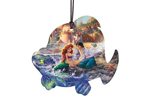Trend Setters Disney The Little Mermaid Flounder Shaped Hanging Acrylic - Thomas Kinkade ()