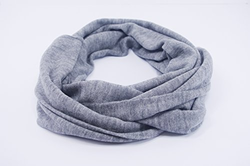 JD Love Women's Silk and Cashmere Scarf 76''X 20'' Grey by Wet Brush (Image #3)