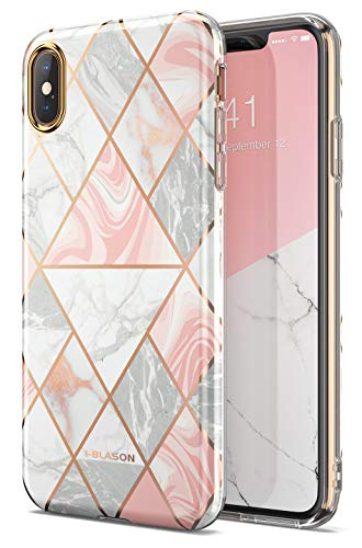 i-Blason Cosmo Lite Series Designed for iPhone Xs Max 2018 Release, Premium Hybrid Slim Protective Bumper Case with Camera Protection, Marble, 6.5