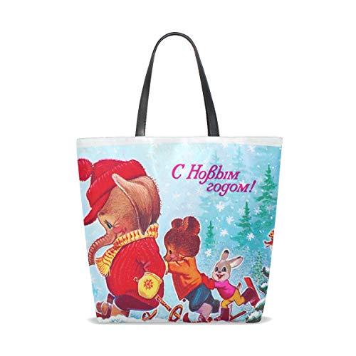 001 Tote Taille Femme Unique Pour Bennigiry Christmas Cabas Elephant 6q0B6x5d