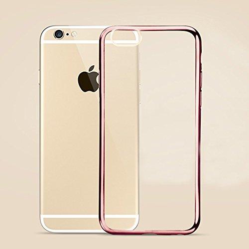 "MOONCASE iPhone 6S Hülle Ultradünnen TPU Case Schutzhülle Crystal Löschen Back Silikon transparent Tasche für iPhone 6 6S 4.7"" Rose Gold"