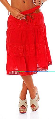 Italy Style - Falda - para mujer Rojo