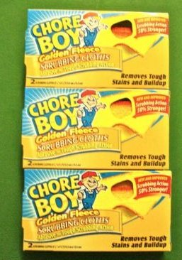 6 Pc Golden Fleece Chore Boy Scrubbing Cleaning Scouring Pads 2/Box 00217