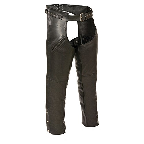 Milwaukee Leather Slash Pocket Chaps (Black, 3X-Large) by Milwaukee Leather