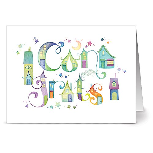 24-note-cards-our-town-congrats-blank-cards-green-envelopes-included