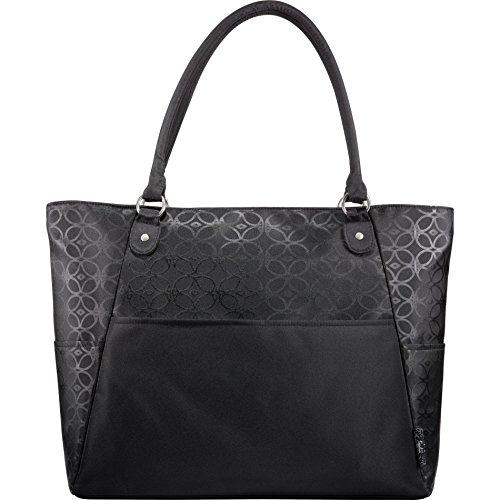Notebook Trolley (Sophia Checkpoint-Friendly Laptop Computer Tech Tote Bag Handbag, Black)