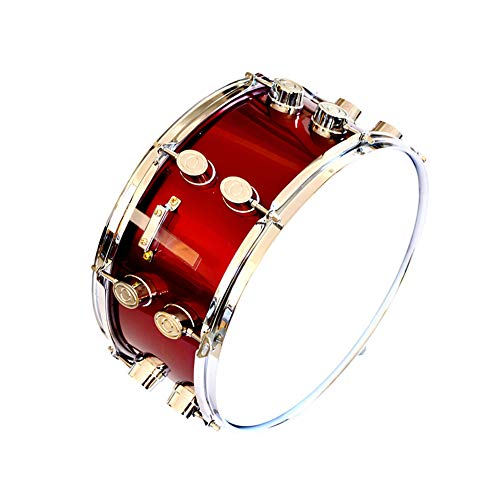 LVSSY-14 Inches Red Wine Snare Drum Birch Wood,Applicable Place Military Band Pipe Band Major Colleges and Universities