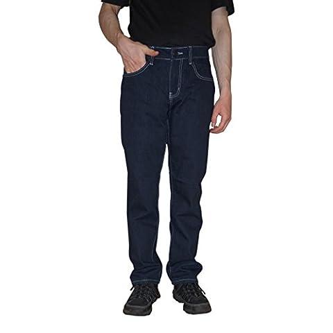 Big Joe Men's Straight Fit Jeans Pants, With A Beautiful Fashion Designer Back Pocket Embroidery (32Wx30L, DARK - Denim Pinstripe Cap